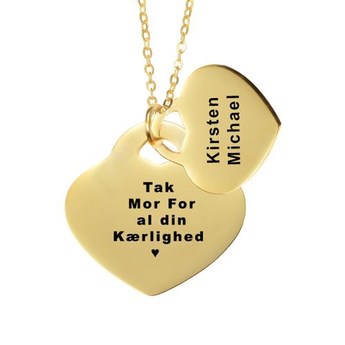 Smykker med gravering, smykker med indgravering, ave til mor, mors dag gave, gaveideer til mor, smykker med gravering, halskæde med gravering