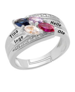 fingerring med gravering, finger ring med gravering rosa guld
